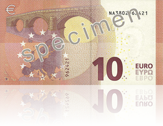 New Europa Series 10 Euro Note Reverse