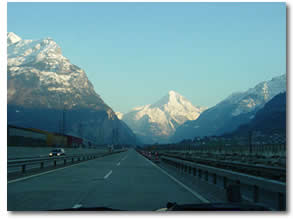 Driving Through Switzerland via Scenic Route on way to Crete